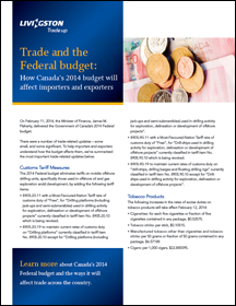 Trade and the Federal budget: How Canada's 2014 budget will affect importers and exporters